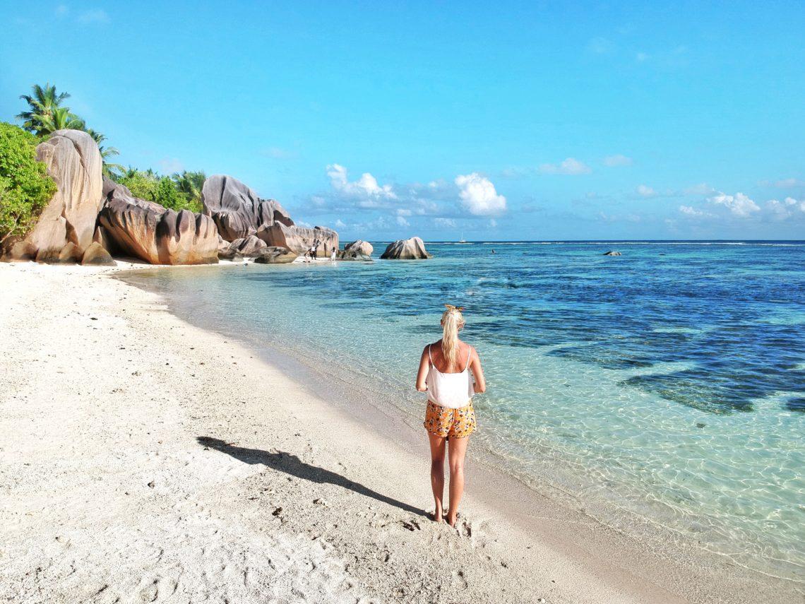 La Digue, Insel, Seychellen, Seychelles, Anse Source d'Argent