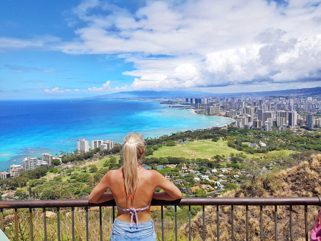 Insel, Oahu, Hawaii, Diamond Head, Waikiki, Honolulu