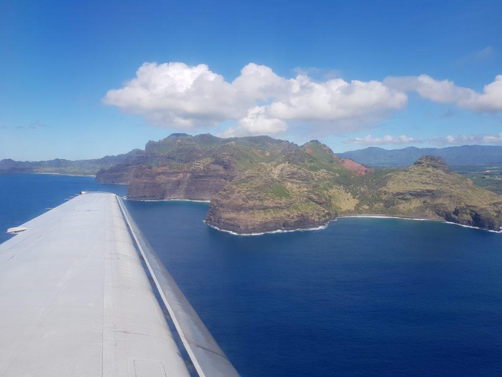 Hawaii, Inlandsflug, Oahu, Kauai