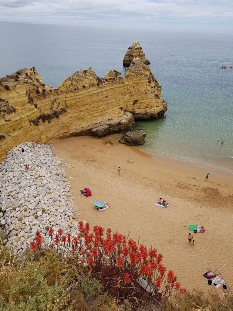 Portugal, Algarve, Klippen, Strand, Lagos, Praia de Dona Ana