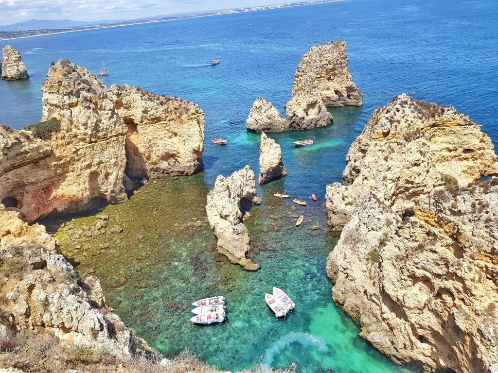 Portugal, Algarve, Klippen, Strand, Lagos, Ponta da Piedade