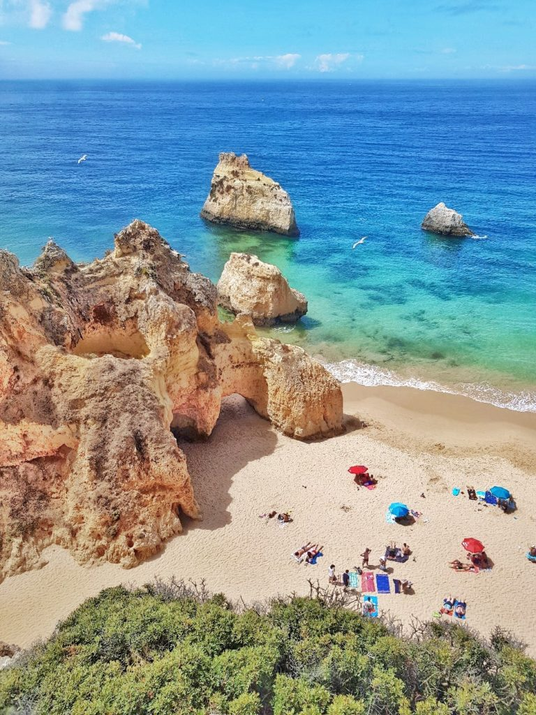 Portugal, Algarve, Klippen, Strand, Praia dos Tres Irmaos