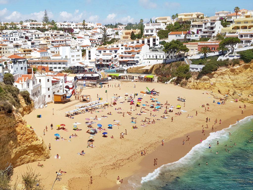 Portugal, Algarve, Carvoeiro, Praia de Carvoeiro