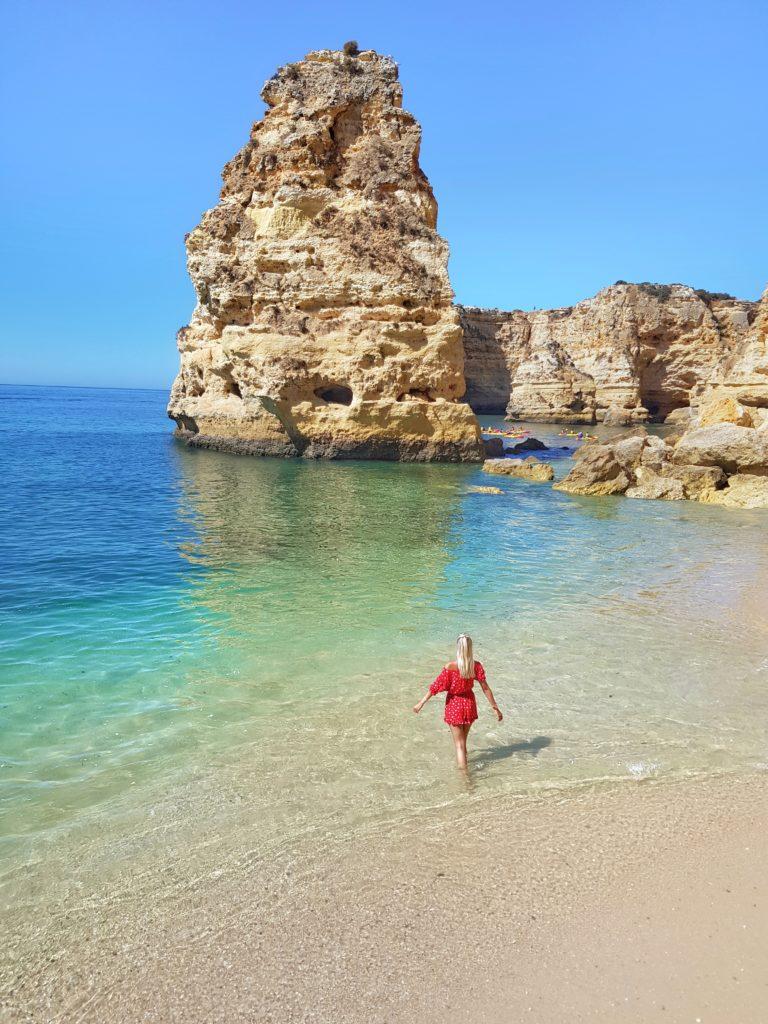 Portugal, Algarve, Klippen, Strand, Praia da Marinha