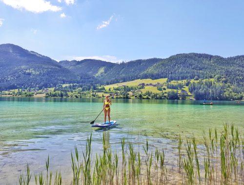 Weißensee, Weissensee, Kärnten, Österreich, Bergsee, Badesee, Berge
