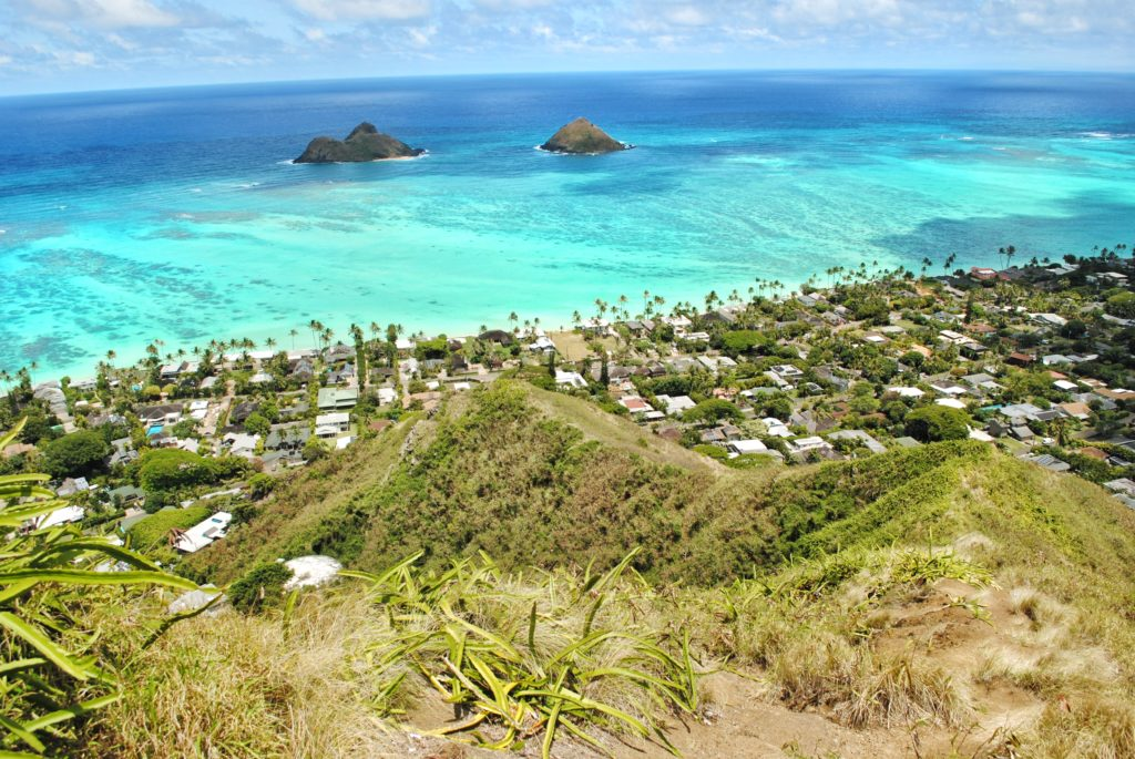 Insel, Oahu, Hawaii, Pillbox Hike, Lanikai Beach