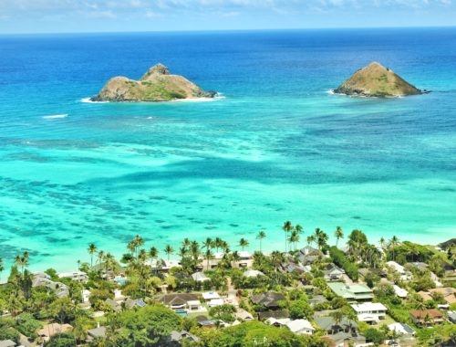 Oahu, Beach, Hawaii, Lanikai Beach, Insel