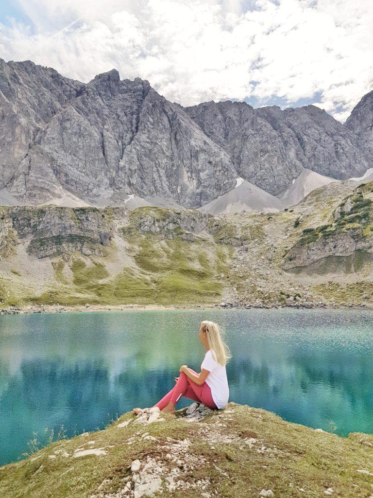 Drachensee, Ehrwalder Alm, Wandern, Österreich, Tirol, Seebensee, Alpen