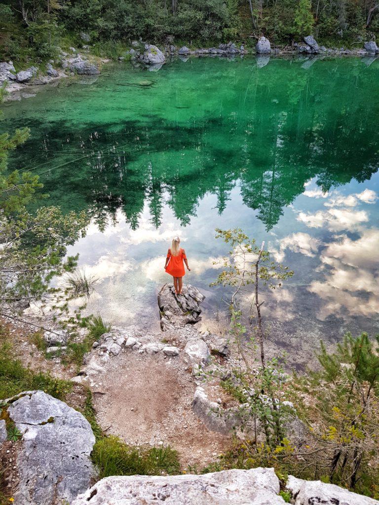 Eibsee, Zugspitze, Bayern, Allgäu, Deutschland, Sonnenaufgang