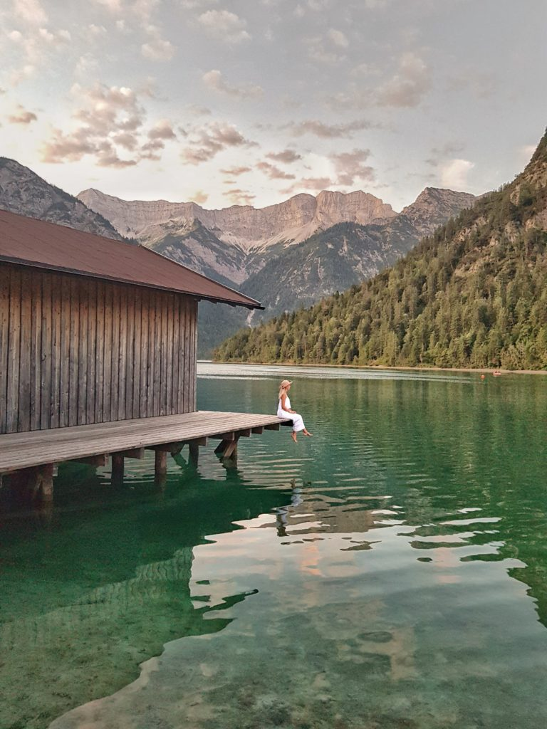 Plansee, Bootshütte, Sonnenaufgang, Berge, Tirol, Reutte