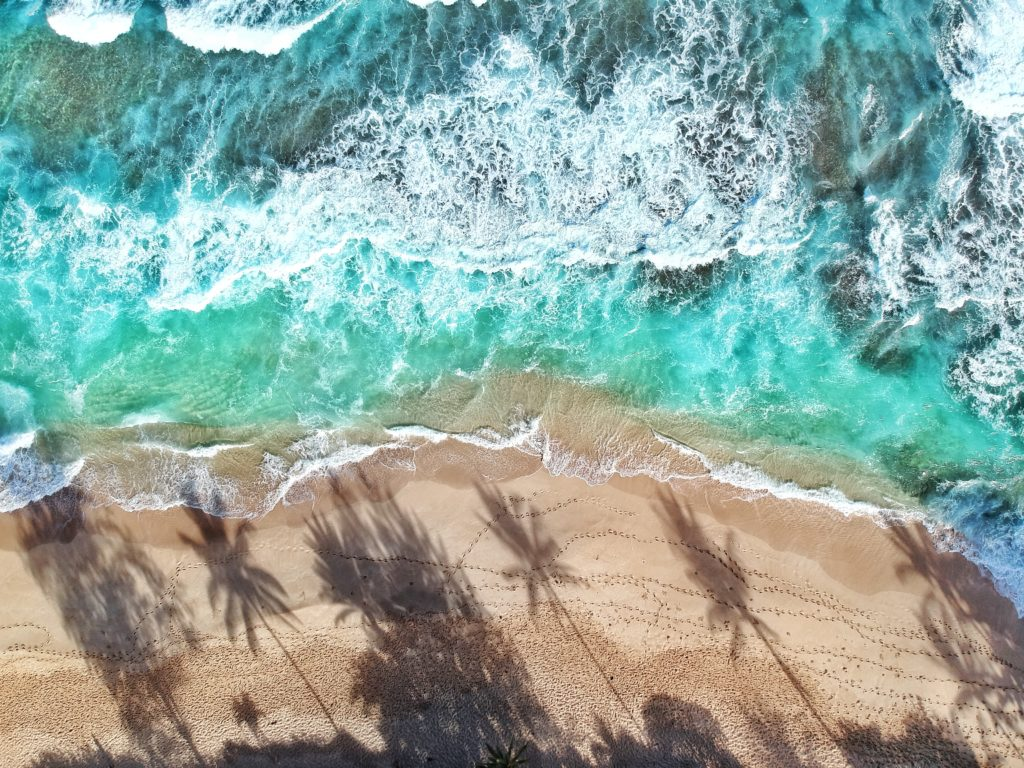 Sandy Beach, Oahu, Hawaii, North Shore, Drohnenfoto, Strand